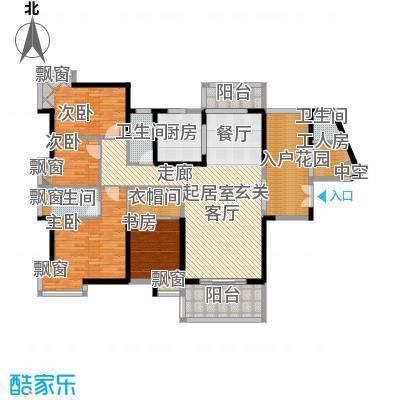 太东高地168.32㎡3栋D1户型四房二厅三卫户型4室2厅3卫