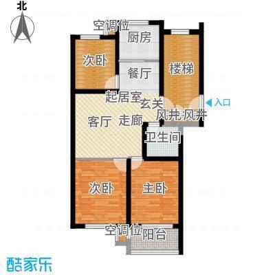 凤鸣郡85.00㎡J户型 3室2厅1卫户型3室2厅1卫
