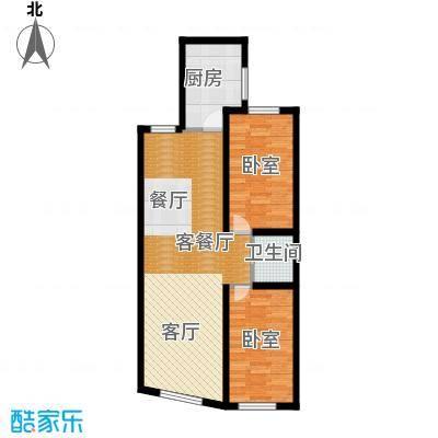 世贸皇冠花园87.50㎡世贸皇冠花园 户型图户型2室2厅1卫