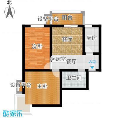 盛世长风二期83.52㎡6号楼7号楼B户型 两室一厅一卫 83.52平米户型2室1厅1卫