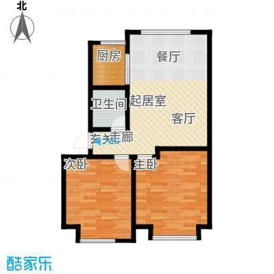 山水家园97.96㎡5.10号楼户型2室2厅1卫