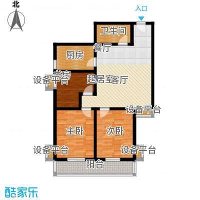 盛世长风二期101.09㎡6、7号楼C户型 三室一厅一卫户型