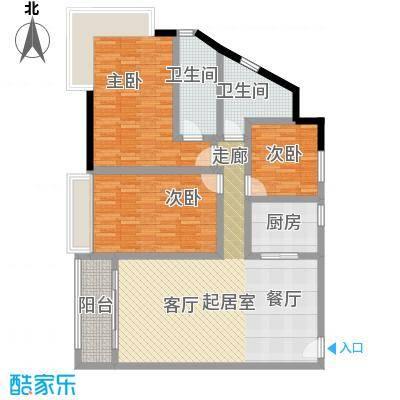 骏景花园140.27㎡2栋03户型3室2厅2卫1厨户型3室2厅2卫