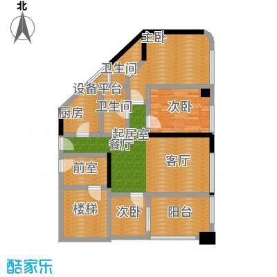 骏景花园98.98㎡1栋03户型3室2厅2卫1厨户型3室2厅2卫