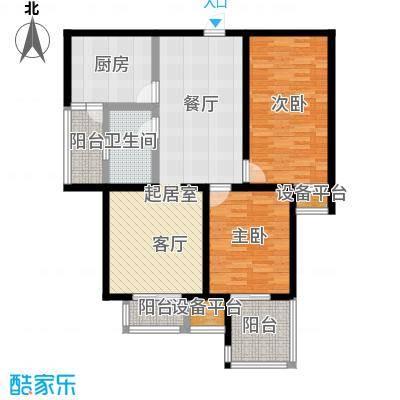龙华苑C户型2室2厅1卫户型2室2厅1卫