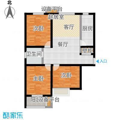 龙华苑E户型3室1厅1卫户型3室1厅1卫