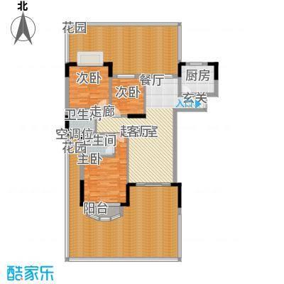 中仪花园124.00㎡09栋02单位 三房二厅二卫户型3室2厅2卫