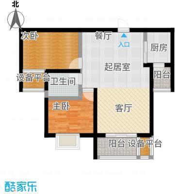 龙华苑B户型2室2厅1卫户型2室2厅1卫