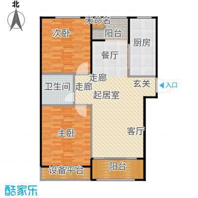 广厦财富中心100.00㎡B2户型 两室两厅一卫户型2室2厅1卫