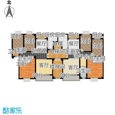 阳光新城126.80㎡B户型3室2厅2卫