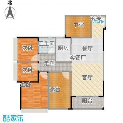 上品花园100.68㎡6栋03、05奇数层户型3室2厅1卫