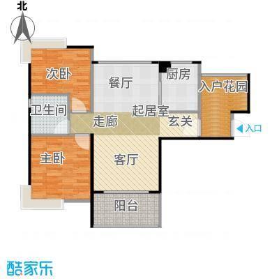 碧桂园生态城93.93㎡高层洋房J483户型3室2厅1卫