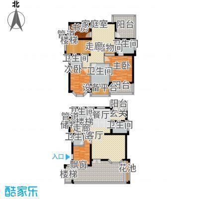 星海绿苑207.13㎡F户型 建面约207.13平米户型6室4厅4卫
