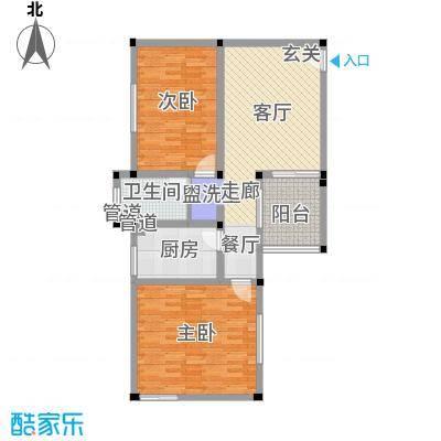 盛田和园89.00㎡2室1厅1卫G户型