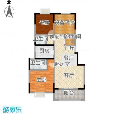 可逸兰亭104.00㎡104平米两房户型2室2厅2卫