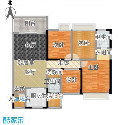 清泉城市广场8栋06户型,9栋04户型3室2厅2卫