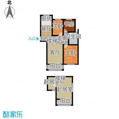 同科・汇丰国际126.00㎡同科汇丰国际B3顶层复式户型3室2厅1卫