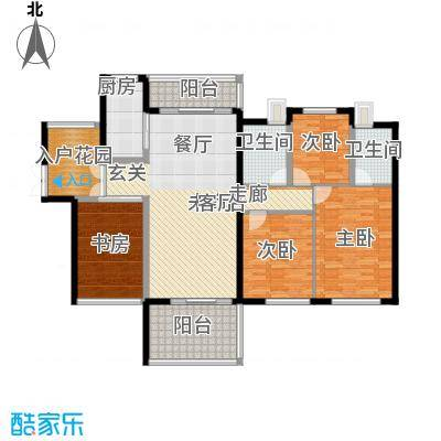 天玺湾129.00㎡129平米户型4室2厅2卫