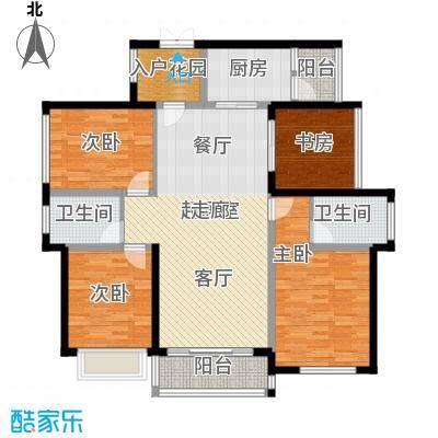 天玺湾127.00㎡127平米户型4室2厅2卫