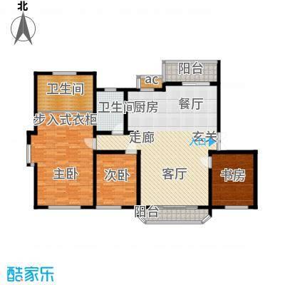 当代传奇160.00㎡一梯二户户型3室2厅2卫