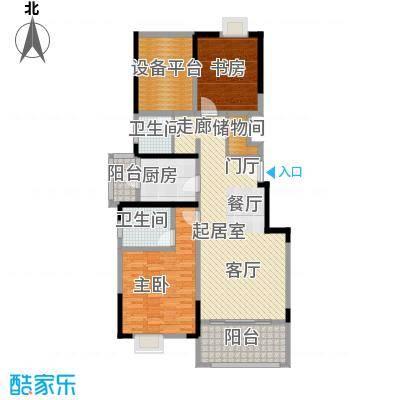 可逸兰亭107.00㎡畅享 2+1房户型3室2厅2卫
