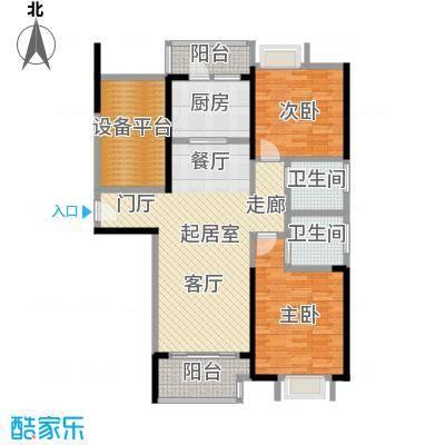 可逸兰亭109.00㎡领悦 2+1房户型3室2厅2卫