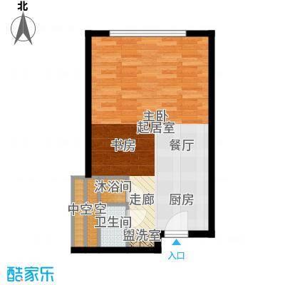 天津中心45.15㎡a-1户型