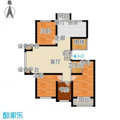 凯利花园160.00㎡凯利花园B户型4室2厅2卫1厨户型4室2厅2卫