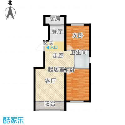 中顺福苑94.22㎡中顺福苑 F户型94.22-94.75㎡ 两室两厅一卫户型2室2厅1卫