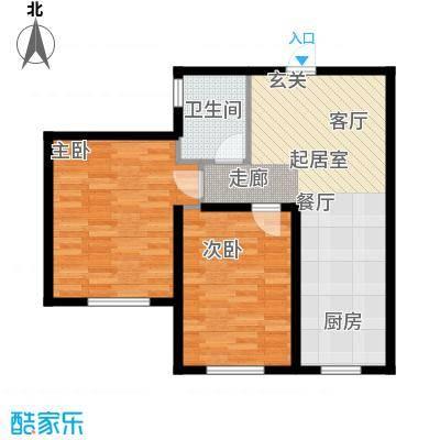 中顺福苑68.81㎡中顺福苑 G户型68.81-69.67㎡ 两室两厅一卫户型2室2厅1卫