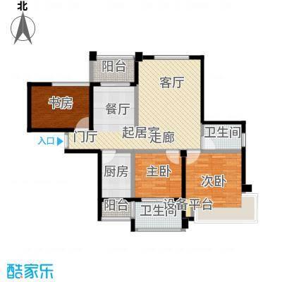 海港城88.00㎡6、7号楼户型3室2厅1卫