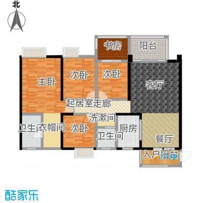 清泉城市广场8栋04户型4室2厅2卫