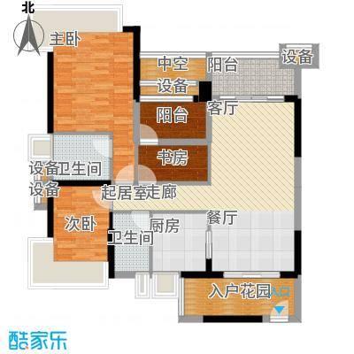 雅居乐凯茵又一城108.22㎡16/17栋01/02单位户型图户型3室2厅2卫
