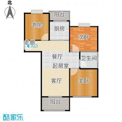 湖畔林语107.00㎡3室2厅1卫107平米户型3室2厅1卫