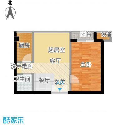 鼎晟金科凯城65.56㎡1室2厅1卫
