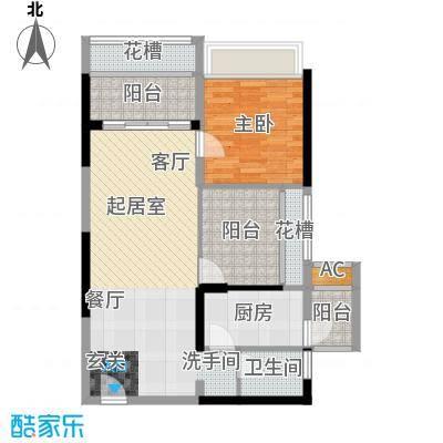 润福壹号公馆70.82㎡2栋户型4栋QQ