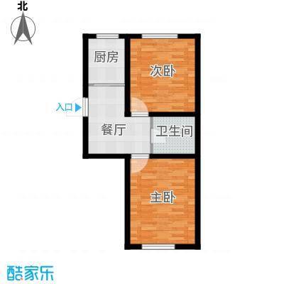 盛阳华苑74.00㎡F2户型73-74平米户型2室1厅1卫