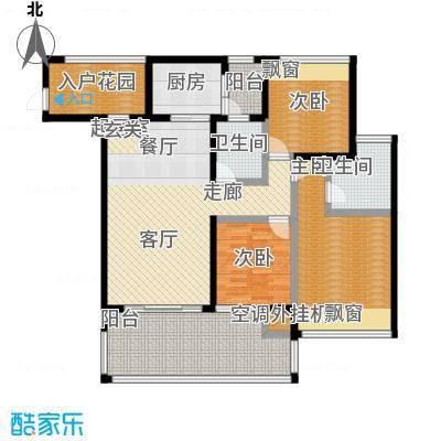 新怡豪门A户型3室2厅2卫1厨 111.02㎡户型3室2厅2卫