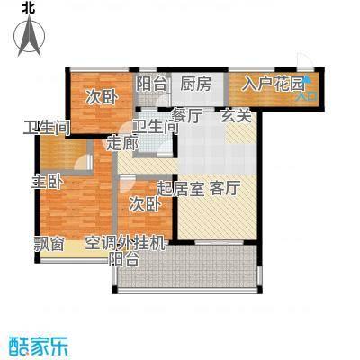 新怡豪门C户型3室2厅2卫1厨 110.81㎡户型3室2厅2卫
