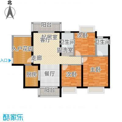 诚杰壹中心122.89㎡C1\\\'三房二厅二卫户型3室2厅2卫