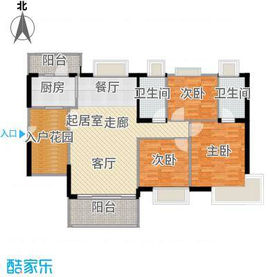 富力现代广场121.60㎡E2栋42层至33层-户型3室2厅2卫
