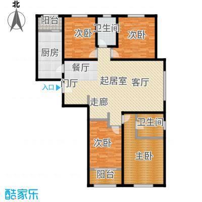 依水现代城153.33㎡12号楼F户型 4室2厅2卫 153.33平户型4室2厅2卫