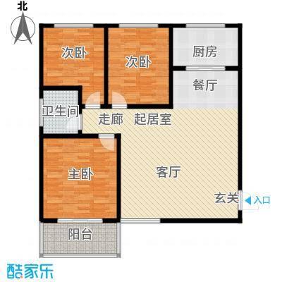 地久艳阳天110.41㎡6#A 三室两厅一卫 110.41户型3室2厅1卫