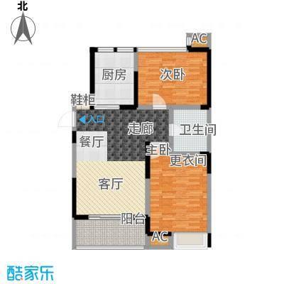 东岳书香苑96.98㎡96.98平方米户型