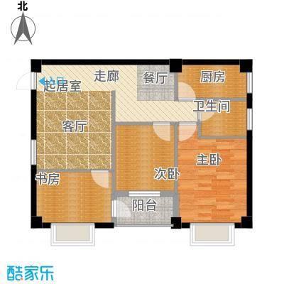 尚城国际89.14㎡D户型2室2厅1卫