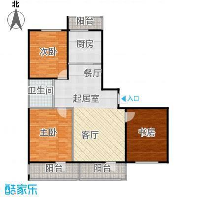 成城蓉桥壹号116.21㎡C2户型图 3室2厅1卫户型3室2厅1卫