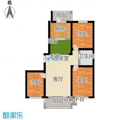 明悦浪漫城高层9栋B户型3室2厅1卫使用面积89平米户型3室2厅1卫