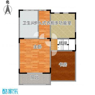 观林一品62.71㎡D第三层平面图户型2室1卫