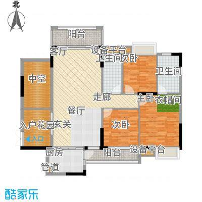 惠州半山名苑108.28㎡小腕洋房C户型3室2厅2卫1厨-108.28㎡户型3室2厅2卫