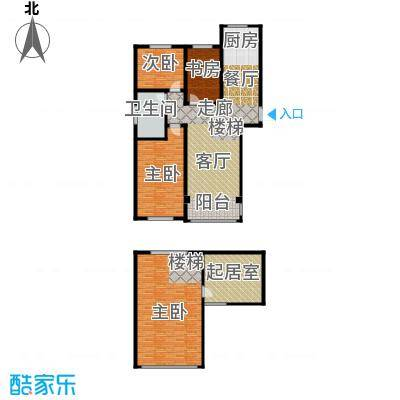 同科・汇丰国际122.00㎡同科汇丰国际B1顶层复式户型3室2厅1卫